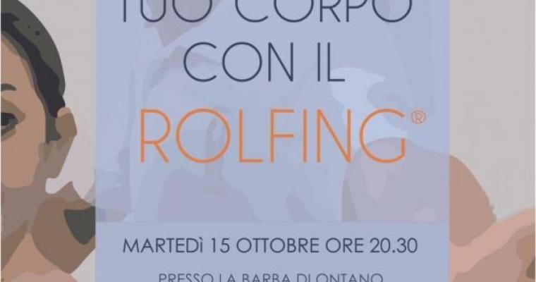 Incontri: Rimodella il tuo corpo con il Rolfing - Roberto Rosolen