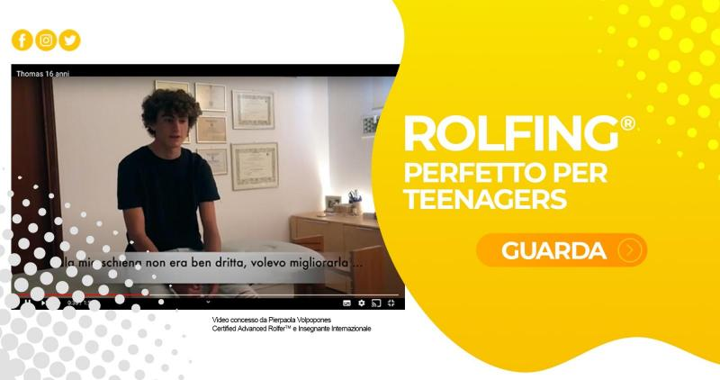 Rolfing perfetto per i teenagers - Video Testimonianza